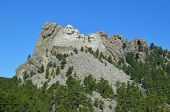 stock photo of mount rushmore national memorial  - Mount Rushmore at South Dakota - JPG