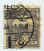HUNGARY - CIRCA 1916: A stamp printed in Hungary shows image of the bird Turul, circa 1916.