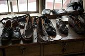 Zapatos de cuero hecho a mano