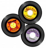 vintage retro 45 record labels