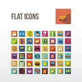 Flat icons.