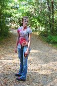 picture of gruesome  - A young woman in bloody clothes - JPG