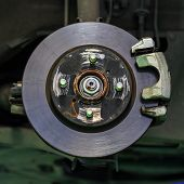 Disc Brake Of A Car Without Brake Lining