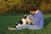 Mature Woman And Canine Friend