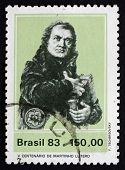 Postage Stamp Brazil 1983 Martin Luther German Priest