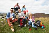 image of 16 year old  - Group Of Young People Hiking In Countryside - JPG