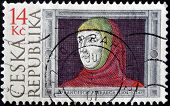 A stamp printed in Czech Republic shows Francesco Petrarca