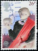 A stamp printed in Great Britain dedicated to Hamlet. British Theatre