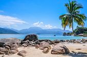 Perfect Paradise Beach Ilha Grande tropical Island. Brazil