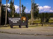 Yellowstone Park Sign
