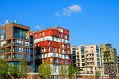 Luxury apartment houses in Hamburg