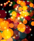 Abstract Christmas Light Background