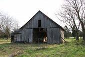 Abandoned Barn At Sunset