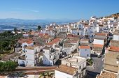Panoramic view of Pisticci. Basilicata. Southern Italy.