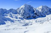 foto of italian alps  - Winter mountains - JPG
