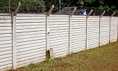 Precast Concrete Wall With Barbed Security Wire