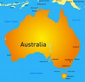 Detailed australia vector map