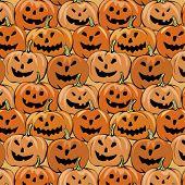 halloween seamless background with pumpkin