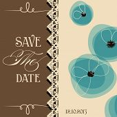Save the date elegant invitation, floral design
