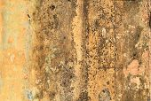 Dirty Yellow Concrete Wall