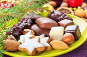 stock photo of shortbread  - fresh xmas cookies - JPG