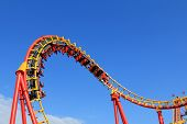 AUSTRIA - AUGUST 10, 2012 : A Roller coaster at Wiener Prater Amusement Park in Vienna on August 10,