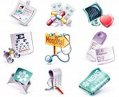 Vector cartoon style icon set. Part 28. Medicine