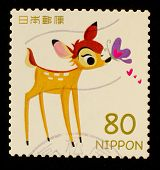 JAPAN - CIRCA 2012: A stamp printed in Japan shows Bambi, circa 2012
