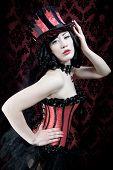 Burlesque Tänzerin Portrait
