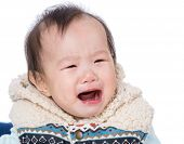 Asia baby girl crying