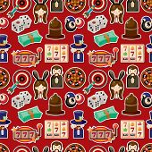 stock photo of poker machine  - seamless casino pattern - JPG