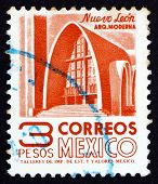 Postage Stamp Mexico 1951 Modernistic Church, Nuevo Leon
