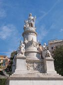 stock photo of christopher columbus  - Monument to Christopher Columbus in Genoa Italy - JPG