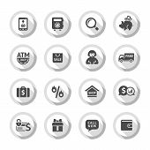 Shopping flat icons set 04