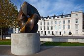 Locking Piece  Sculpture On London's Millbank By Sculptor Henry Moore On November