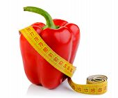 Bell Pepper And Tape Measure