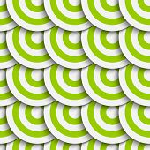 Green Seamless Concentric Circles Pattern