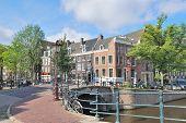 Amsterdam. Bridge Across The Canals