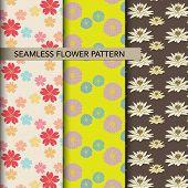 Colorful Flower Pattern Set Original