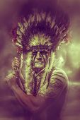pic of tomahawk  - American Indian warrior - JPG
