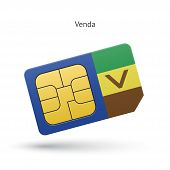 Venda mobile phone sim card with flag.
