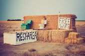 pic of nebraska  - Humorous roadside Rest Area near Alliance Nebraska - JPG