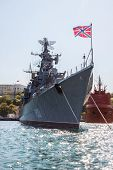 Russian Warship In The Bay, Sevastopol, Crimea