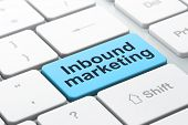 Business concept: Inbound Marketing on computer keyboard background