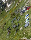 Bicycles On The Slopes Of The Mountain