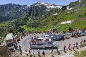 Publicity Caravan In Pyrenees Mountains