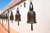Buddhist Bells In Wat Saket, Bangkok, Thailand.