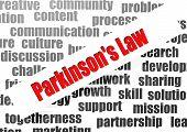 Parkinson's Law Word Cloud