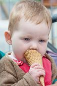 Baby Girl With Ice Cream Cones