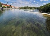 River Lech In Landsberg Am Lech